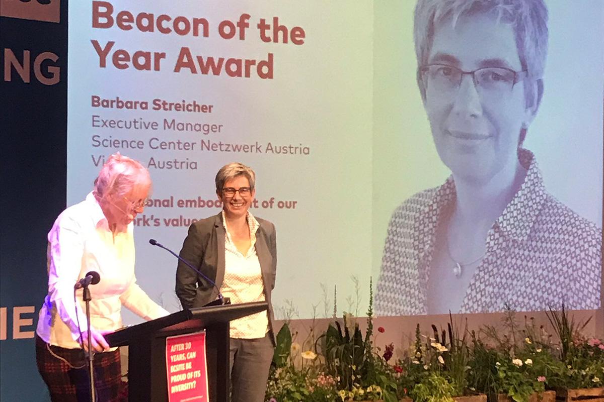 """BS ausgezeichnet als """"ECSITE Beacon of the year"""""""