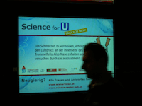 Science for U Screen in U-Bahn Station