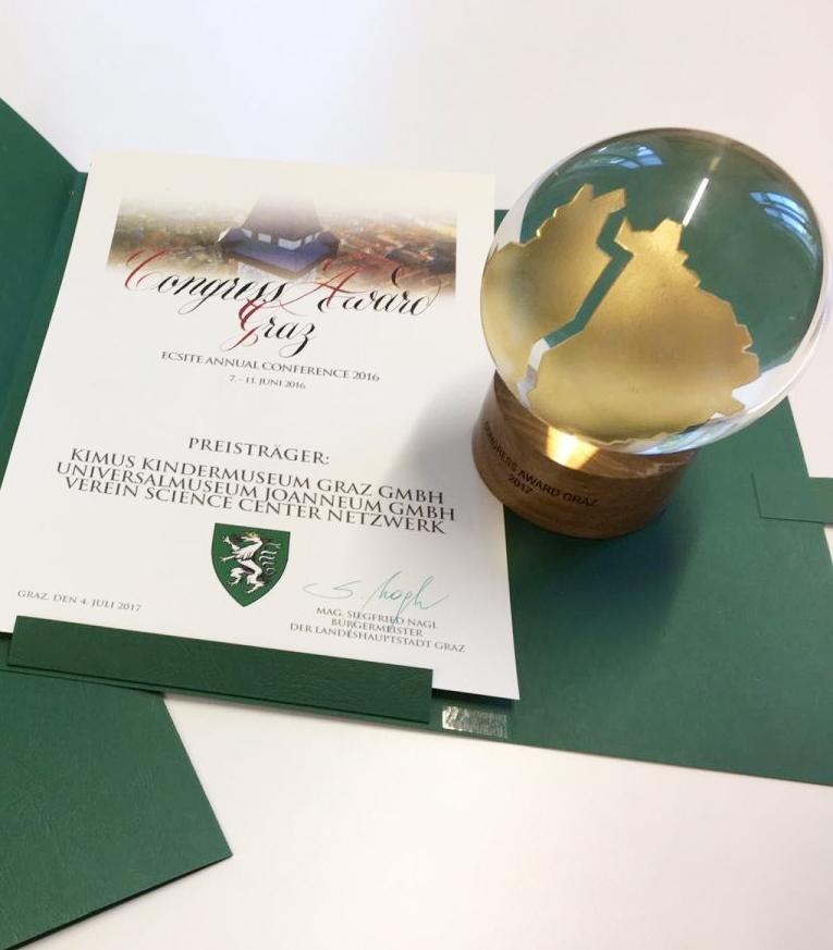 Preise und Auszeichnungen des Verein ScienceCenter-Netzwerk