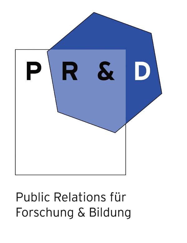 Logo PR&D – Public Relations für Forschung & Bildung